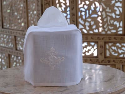 embroidered tissue box covers