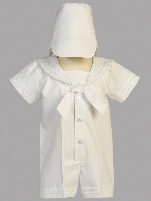 Washington DC Virginia Maryland Boys Christening Baptismal formal romper buy online or in our stores Owen