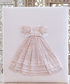 baby memory books by marcella books baby memory book by marcela dress in pink silk on white shantung large