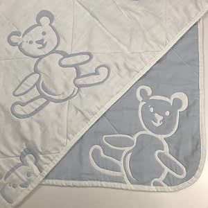 sdh blue bear baby blanket