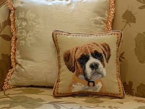 Embroidered Dog Pillows online Washington DC Virginia Maryland K1330 Boxer 1374