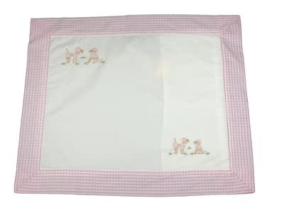 embroidered baby pillow shams pink poodles