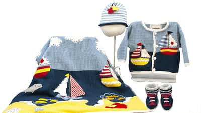Art Walk Knit Set Sailboat