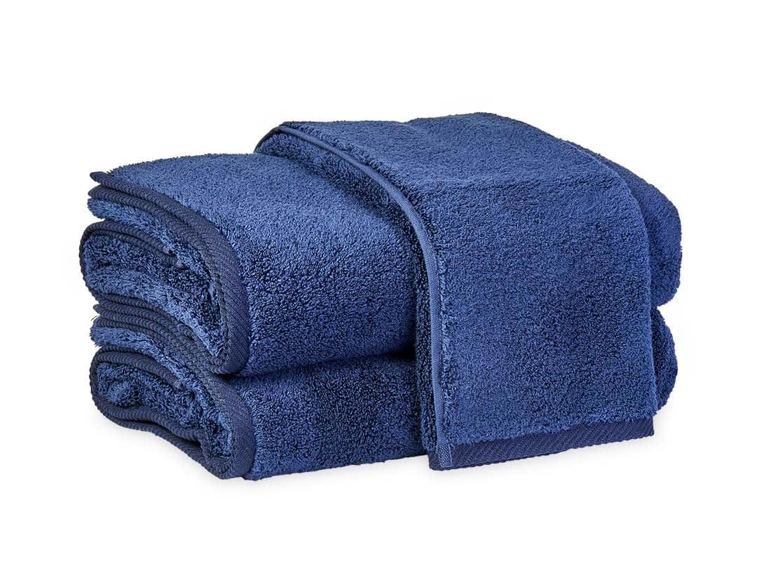 Matouk Milagro bath collection in navy