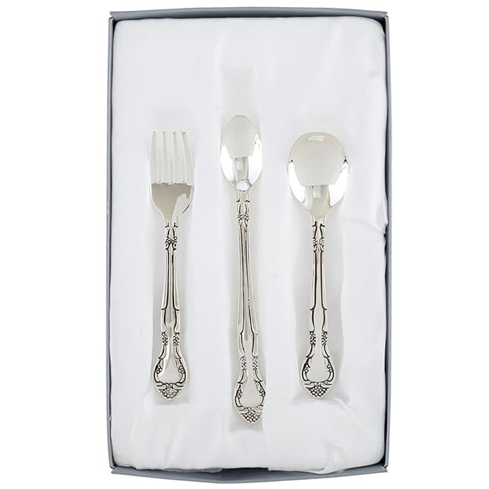 Washington DC Virginia Maryland silver feeding set for baby