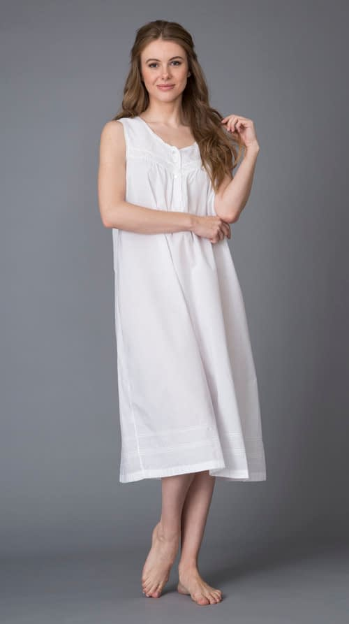 Maile Victorian cotton nightgown
