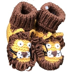art walk knit booties lion