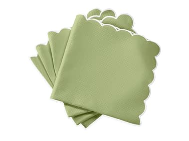 Washington DC Virginia Maryland Matouk Savannah Gardens table linens in green