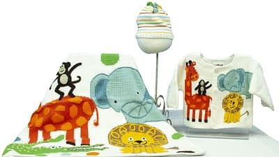Art Walk Jungle Party baby apparel collection
