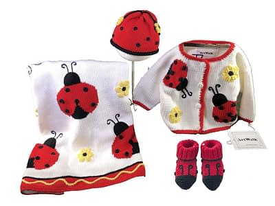 Art Walk Knit Set Ladybug
