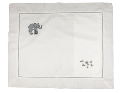 embroidered baby pillow shams grey elephant
