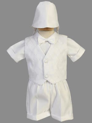 Washington DC Virginia Maryland Boys Christening Baptismal formal vest and shorts buy online or in our stores Style #8477