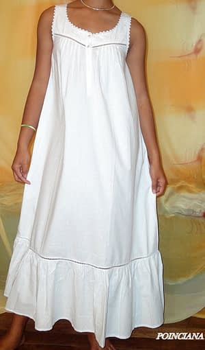 Poinciana handcrafted cotton nightgown
