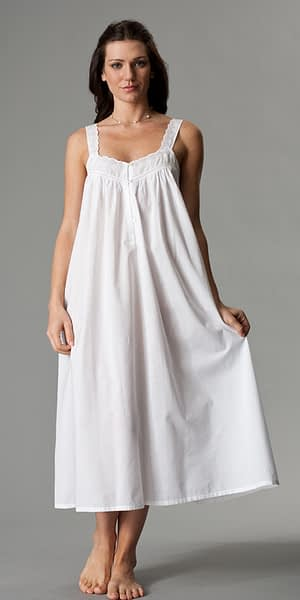 Aralia white cotton nightgown