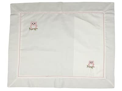 embroidered baby pillow shams pink owls