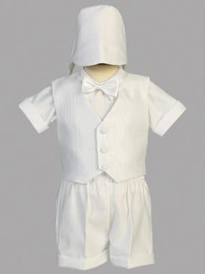 Washington DC Virginia Maryland Boys Christening Baptismal formal vest and shorts buy online or in our stores Style #8460