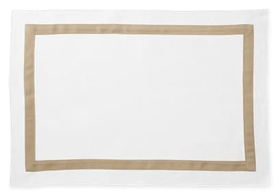 Washington DC Virginia Maryland Matouk Lowell table linens placemat in Champagne