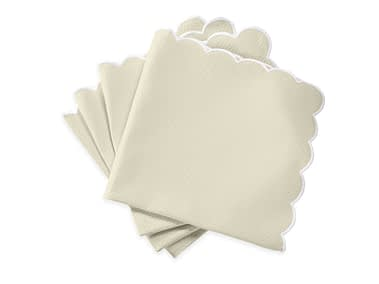 Washington DC Virginia Maryland Matouk Savannah Gardens table linens in ivory