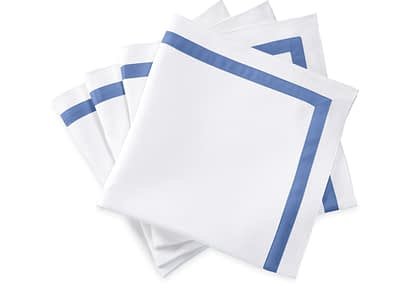 Washington DC Virginia Maryland Matouk Lowell table linens tablecloth in azure blue