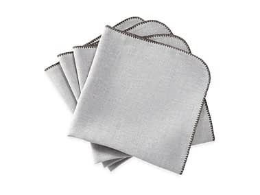 Washington DC Virginia Maryland Matouk Calypso napkins and tablecloths in silver