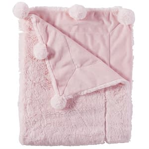 Online Washington DC Virginia Maryland Mud-Pie Baby Blankets Pink Pom Pom