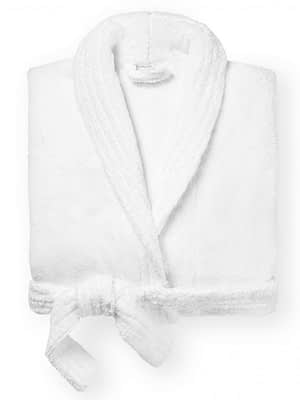 sferra amira bathrobe white folded
