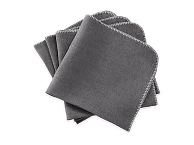 Washington DC Virginia Maryland Matouk Calypso napkins and tablecloths in charcoal