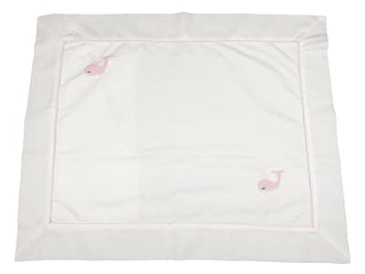 embroidered baby pillow shams pink whales