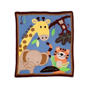 buy online Art Walk Safari Baby Blanket