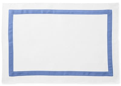 Washington DC Virginia Maryland Matouk Lowell table linens placemat in azure blue