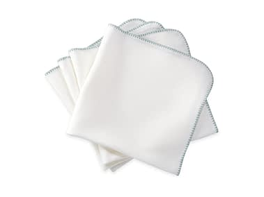 Washington DC Virginia Maryland Matouk Calypso napkins and tablecloths in white and opal