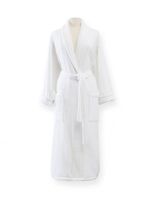 sferra fairfield bathrobe velour robe white