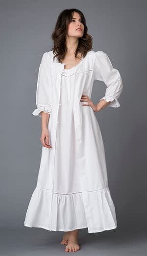 Poinsettia handcrafted cotton robe