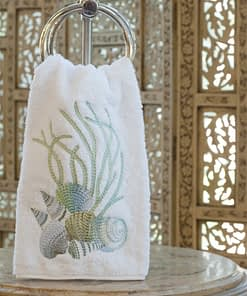 anali guest towels shell blue terry