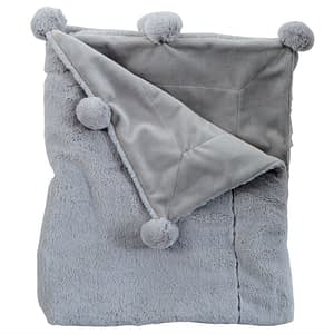 Online Washington DC Virginia Maryland Mud-Pie Baby Blankets Grey Pom Pom