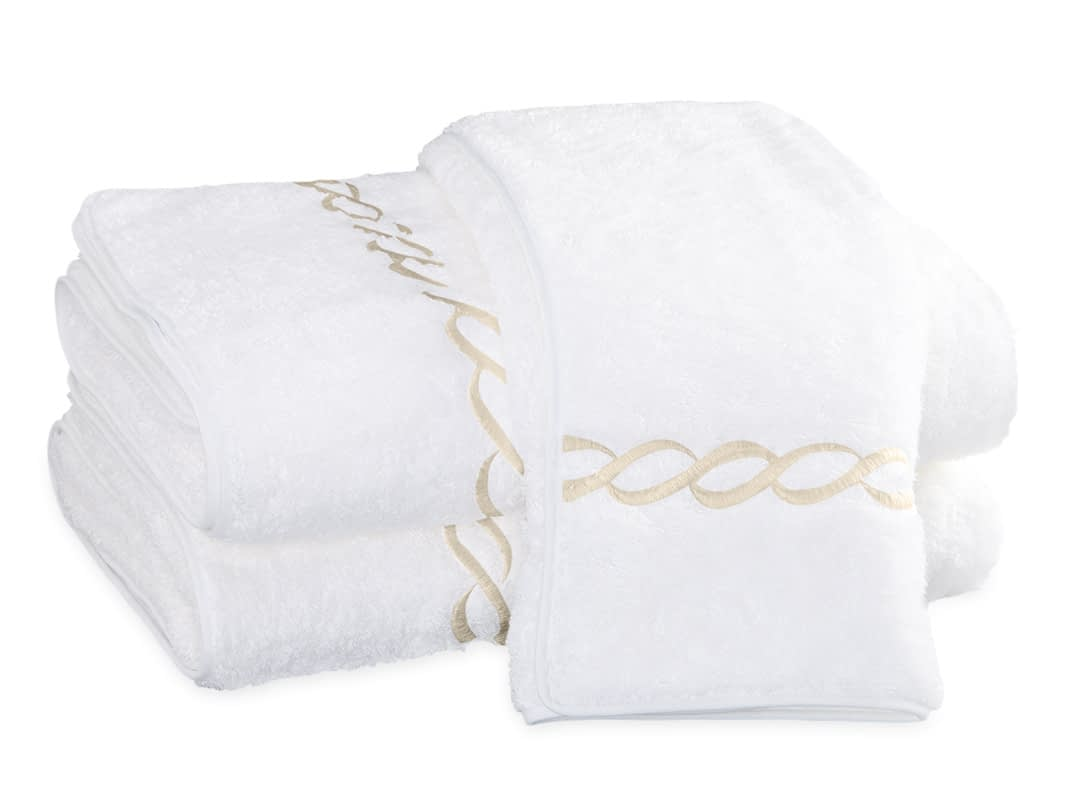 Matouk Classic Chain towels buy online discount authorized dealer Ivory
