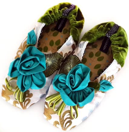Ice Blue slippers by Goody Goody