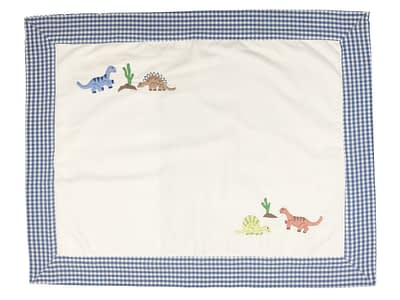embroidered baby pillow shams dinosaurs