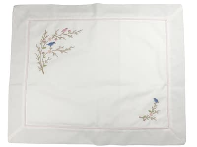 embroidered baby pillow shams birds and flowers