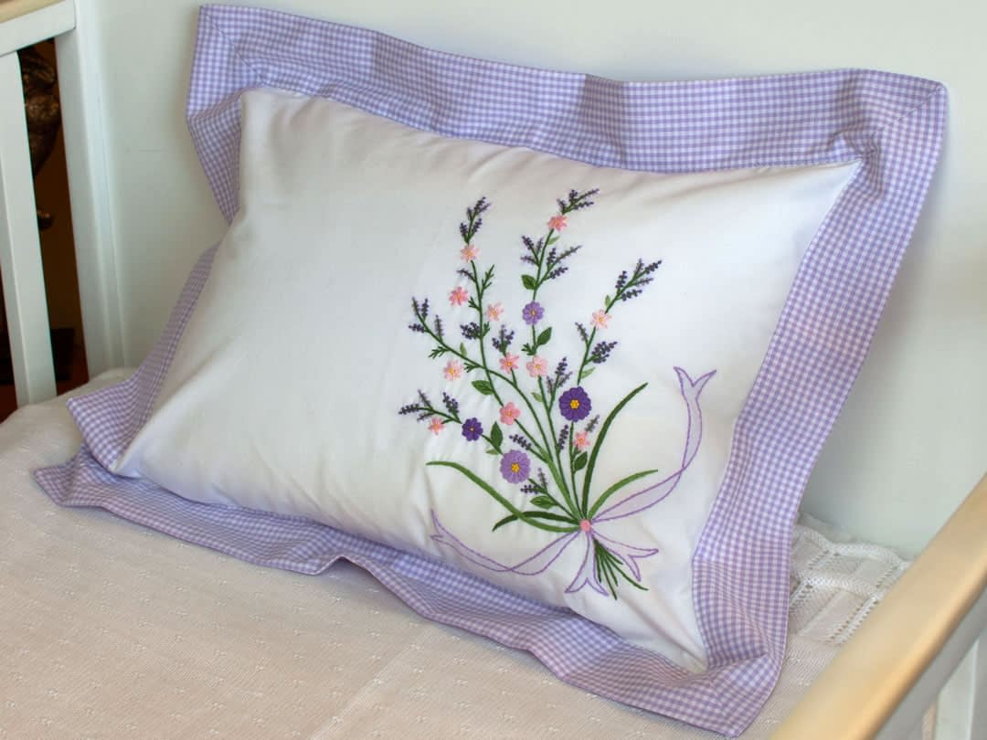 baby pillows and shams Purple Flowers