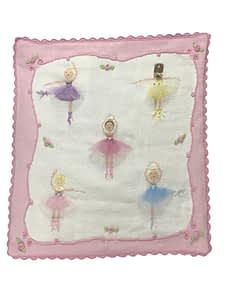 artwalk le ballet hand knit baby blanket 1994