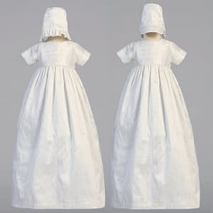 Unisex Christening Baptismal gown buy online Jamie boys and girls bonnet