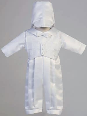 Boys Christening Baptismal formal romper buy online Andrew