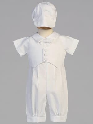 Boys Christening Baptismal formal romper buy online Tyler