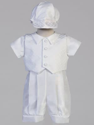 Washington DC Virginia Maryland Boys Christening Baptismal formal romper buy online or in our stores Lennon