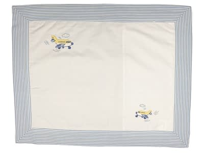 embroidered baby pillow shams airplanes