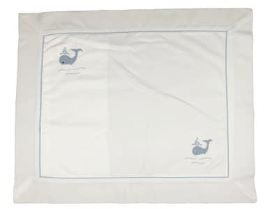 embroidered baby pillow shams blue whales