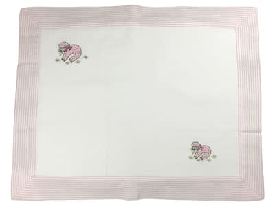 embroidered baby pillow shams pink lambs
