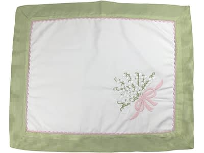 embroidered baby pillow shams lily of the valley