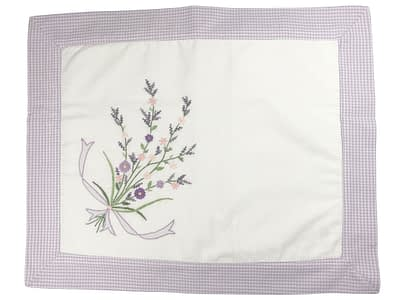 embroidered baby pillow shams purple bouquet